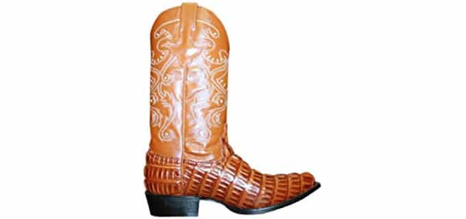 Dona Michi Men's Cowboy - Genuine Alligator Leather Work Boots