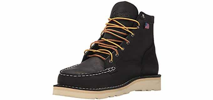 Danner Men's Bull Run - Black Moc Toe Work Boot
