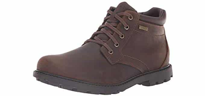 Rockport Men's Rugged Bucks - Mid Cut Chukka Boot with Hydo-Shield