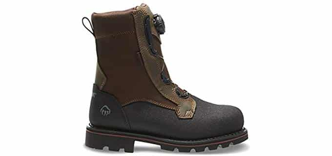 Wolverine 's Drillbit - BOA Lace Steel Toe Work Boot
