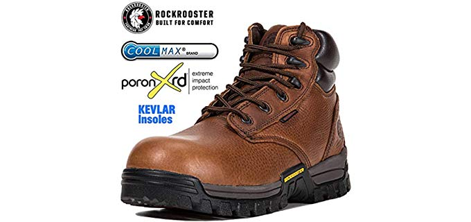 Rockrooster Men's Workboots - Green Patch CSA Approved Work Boots