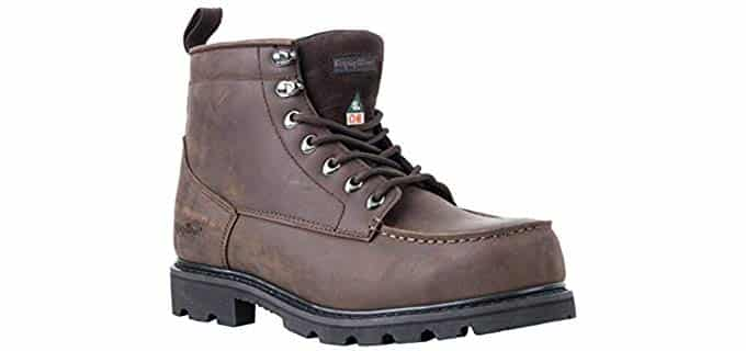 RefrigiWear Men's Moc Toe - Cold weather CSA Approved Work Boot