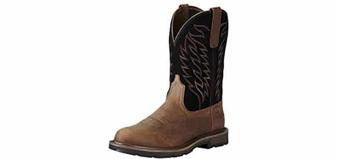 Ariat Men's Groundbreaker Pull-On - Stylish Cowboy Work Boots