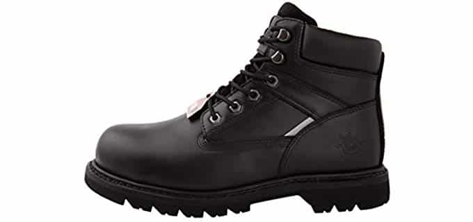 KingShow Men's 1606ST - Steel Toe Work Boot