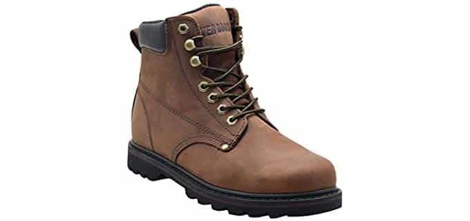 Everboots Men's Tank - Soft Toe Work Boot with Comfort Cushion