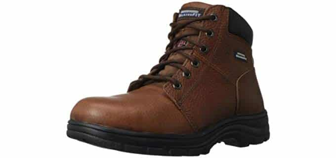 Skechers Men's Workshire - Steel toe Work Boot for Hammertoes