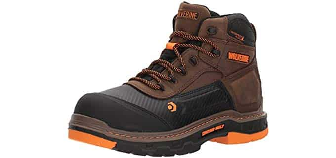 Wolverine Men's Overpass 6 Inch - Composite Toe Waterproof Insulated Work Boot