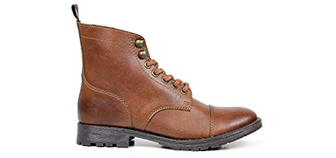 Will's Men's Chestnut - Vegan Work Boots for the Office