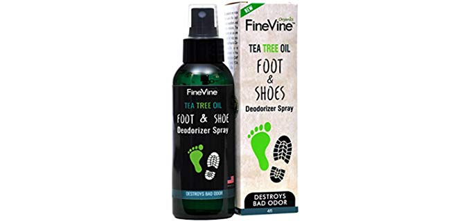 FineVine Unisex All Natural - Foot deodorant spray