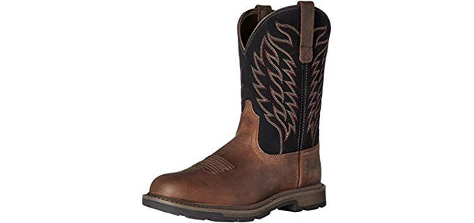 Ariat Men's Groundbreaker - Slip On Anti-Fatigue Work Boots