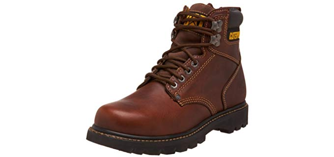 Caterpillar Men's Second Shift - Hypoallergenic Work Boot from Natural Leather