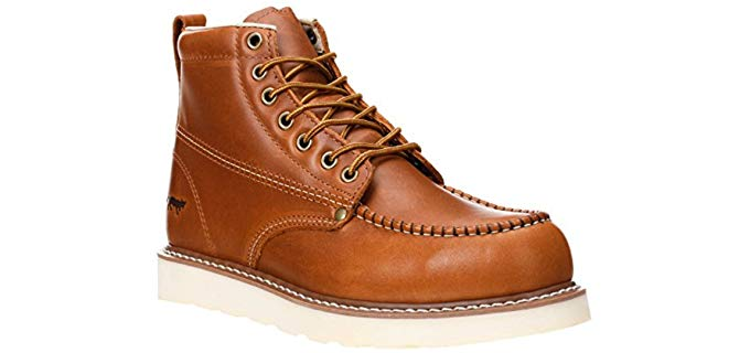Golden Fox Men's Moc Toe - Comfortable Anti-Fatigue