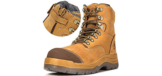 Rockrooster Men's Antistatic - Rubber Free Hypoallergenic Work Boot
