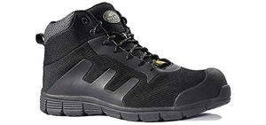 Rock Fall Men's ESD - Hypoallergenic Work Boot for Chrome Allergies