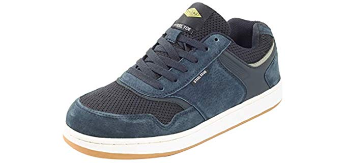 Steel Edge Men's Safety - Steel Toe Skate Shoe
