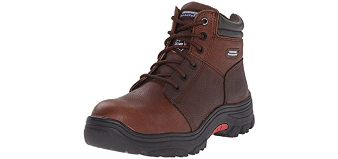 Skechers for Work Men's Burgin - Cushioned Anti-Fatigue Work Boots