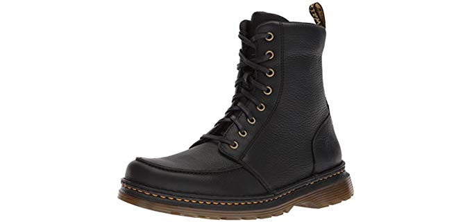 Dr. Martens Men's Lombardo - Leather Moc Toe Work Boot