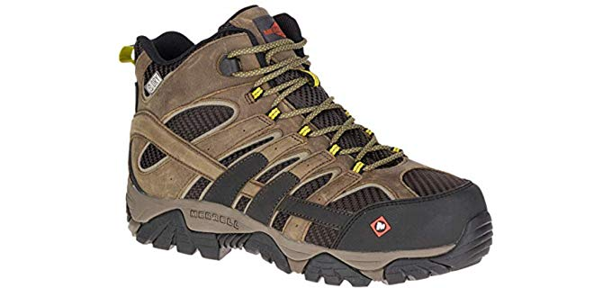 Merrell Men's Moab 2 - Waterproof Arthritis Work Boot