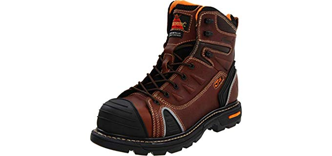 Thorogood Men's Flex Work Boots - Cushioned Work Boots for Carpenters