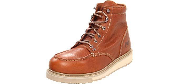 Timberland Pro Men's Barstow - Soft Toe Wedge Boots for Roofing