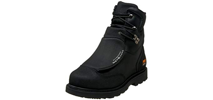 Timberland Pro Men's Metguard - Black Leather Welding Work Boots