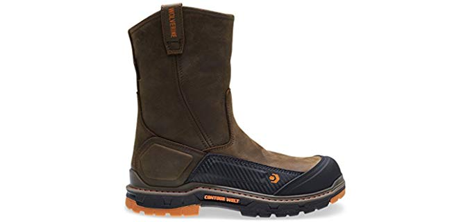 Wolverine Men's Overpass - 10 Inch Pull On Composite Toe Work Boot