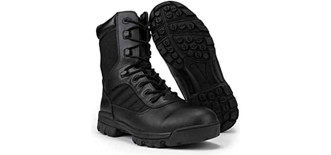 RYNO GEAR Men's Men's Black Tactical Combat Boots with Coolmax Lining - Tactical Combat Boot