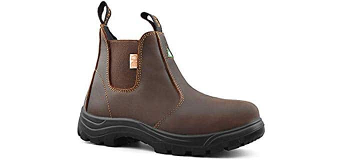 Tiger Women's Tiger Women's Work Boots - Slip On Steel Toe Work Boot