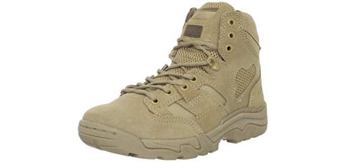 5.11 Men's 6-Inch Suede Coyote Work Boots - Tactical Boot