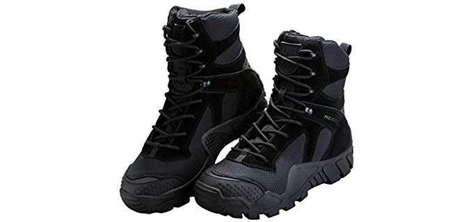 FREE SOLDIER Men's R Outdoor Men's Tactical Military Boots - Military/Tactical Boot