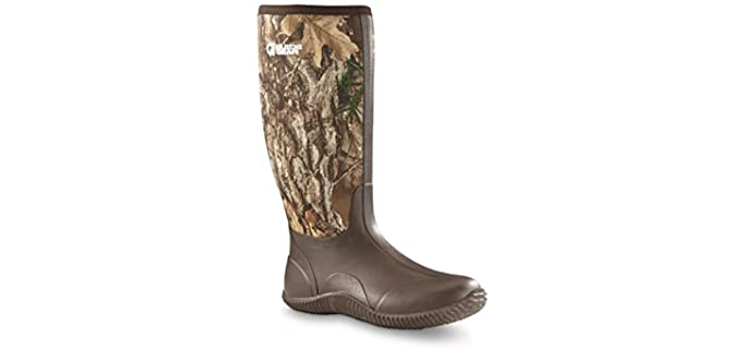 Guide Gear Men's High Cammo Bogger - Rubber Boots