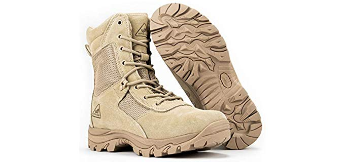 Ryno Gear Men's Tactical Combat Boots with Coolmax Lining - Military/Tactical Boot