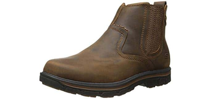 Skechers Men's Relaxed Fit Segment - Dorton Boot - Leather Work Boot