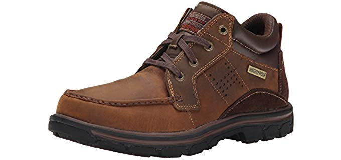 Skechers Men's Segment Melego Leather Chukka - Leather Waterproof Boot