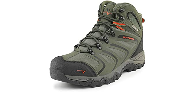 NORTIV 8 Men's Ankle High Waterproof Hiking Boots - Outdoor Lightweight Shoes