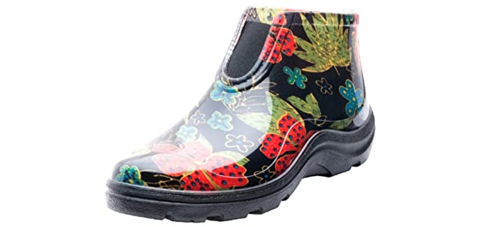 Sloggers Womens's 2841BK09 - Waterproof Rain and Garden Ankle Boots