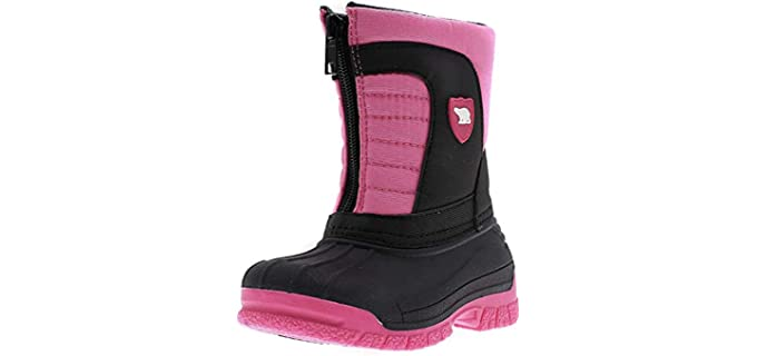 ArcticShield Unisex Kids Waterproof Insulated  - Durable Easy On/Off Winter Snow Boots