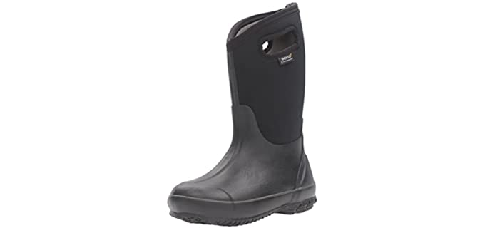 Bogs Unisex Kids Classic High Waterproof - Insulated Rubber Rain and Winter Snow Boot