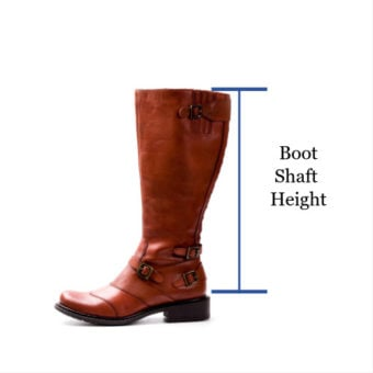picture showing where to measure for shaft height